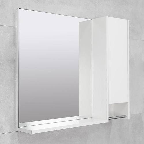 Мебель Селена Шкаф-зеркало белый структурный 60 правый